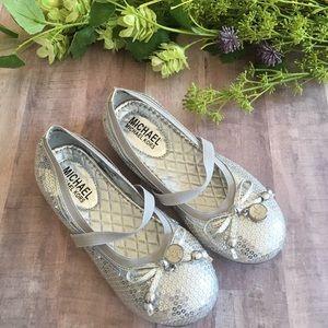 Michael Kors Silver Sequin Shoes, Size 12
